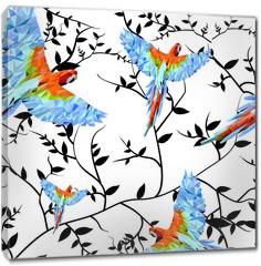 Obraz na płótnie canvas - Papuga geometryczna1