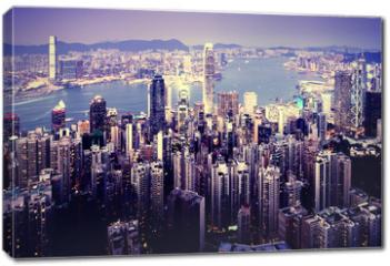Obraz na płótnie canvas - Hong kong from the Victoria peak