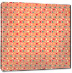 Obraz na płótnie canvas - Texture of the old paper with retro geometric ornamental pattern