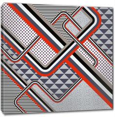 Obraz na płótnie canvas - Retro stile abstract  background. Illustration 10 version
