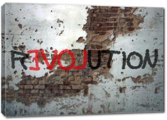 Obraz na płótnie canvas - Révolution, graffiti