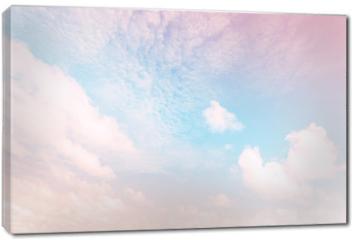 Obraz na płótnie canvas - Sky with a pastel colored gradient