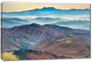Obraz na płótnie canvas - Beautiful blue mountains and hills