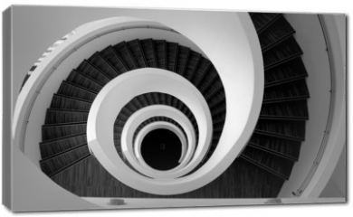 Obraz na płótnie canvas - Modern spiral stairs detail