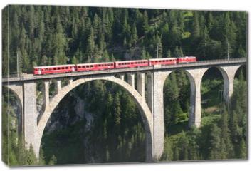 Obraz na płótnie canvas - Rhätische Bahn - Wiesener Viadukt