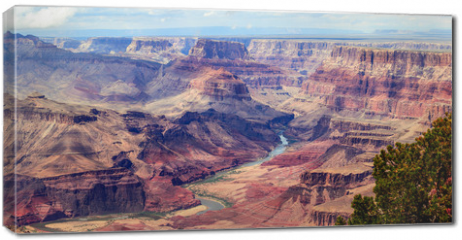Obraz na płótnie canvas - Panorama image of Colorado river through Grand Canyon