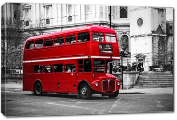 Obraz na płótnie canvas - London's iconic double decker bus.