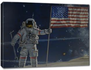 Obraz na płótnie canvas - man on the moon