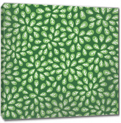 Obraz na płótnie canvas - seamless abstract green leaves pattern on green background