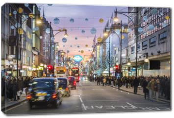 Obraz na płótnie canvas - London Oxford Street, Christmas Day