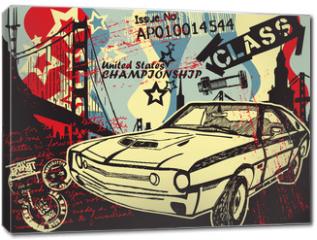 Obraz na płótnie canvas - Abstract CITY Print Design Artwork