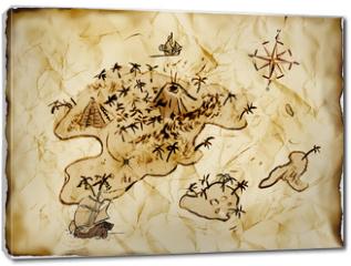 Obraz na płótnie canvas - Schatzkarte, Illustration
