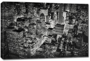 Obraz na płótnie canvas - Bright city lights of New York City, USA