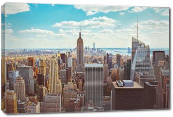 Obraz na płótnie canvas - New York City (Taken from Helicopter)