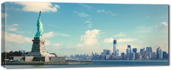 Obraz na płótnie canvas - Panorama on Manhattan, New York City