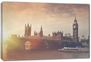Obraz na płótnie canvas - London Big Ben Sunset