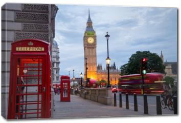 Obraz na płótnie canvas - Big BenBig Ben and Westminster abbey in London, England
