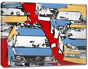 Obraz na płótnie canvas - embouteillage