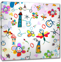 Obraz na płótnie canvas - background for kids