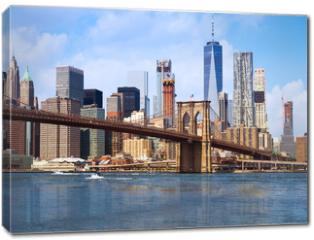 Obraz na płótnie canvas - New York city Lower Manhattan skyline