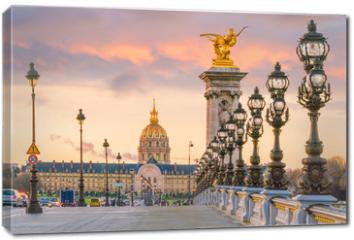 Obraz na płótnie canvas - The Alexander III Bridge across Seine river in Paris