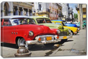 Obraz na płótnie canvas - Colorful Havana cars