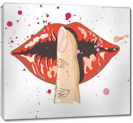 Obraz na płótnie canvas - lips