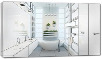 Obraz na płótnie canvas - Contemporary Bathroom Adaptation (project)