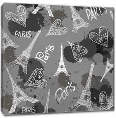 Obraz na płótnie canvas - seamless eiffel tower Paris background