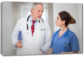 Obraz na płótnie canvas - Two doctors discussing