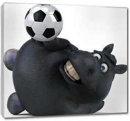 Obraz na płótnie canvas - Fun horse - 3D Illustration