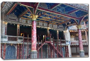 Obraz na płótnie canvas - London, England - march 11 2018 : Globe Shakespeare theatre