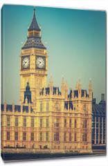 Obraz na płótnie canvas - Big Ben and houses of parliament in London, UK