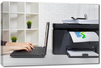 Obraz na płótnie canvas - printer in office