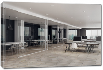 Obraz na płótnie canvas - Modern coworking office interior