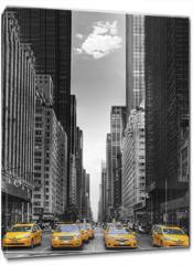 Obraz na płótnie canvas - Rangée de taxis à New-York