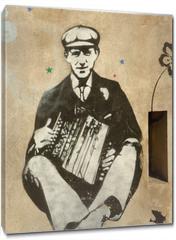 Obraz na płótnie canvas - accordéoniste