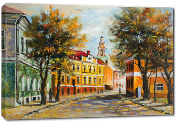 Obraz na płótnie canvas - Ancient Vitebsk in the autumn