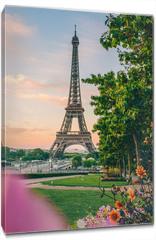 Obraz na płótnie canvas - lever de soleil paris tour eiffel