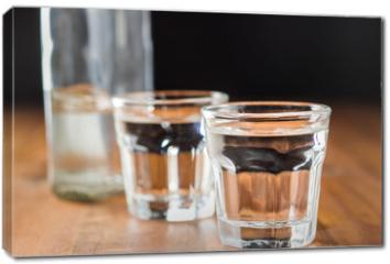 Obraz na płótnie canvas - Vodka in shot glass.