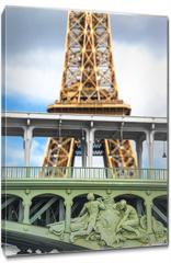 Obraz na płótnie canvas - la Tour Eiffel vista dalla Senna