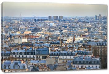 Obraz na płótnie canvas - Beautiful Paris afternoon cityscape seen from Montmartre