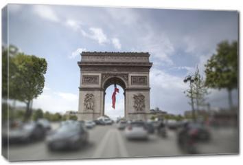 Obraz na płótnie canvas - triumphal arch on the Champs Elysées