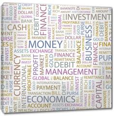 Obraz na płótnie canvas - MONEY. Seamless vector background.