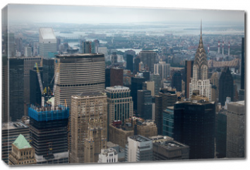 Obraz na płótnie canvas - Aerial view of Manhattan skyscraper from Empire state building observation deck
