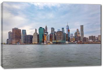 Obraz na płótnie canvas - skyline of New York from river Hudson