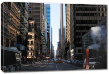 Obraz na płótnie canvas - rue de New York et cheminée de fumée