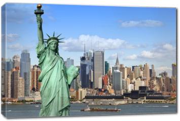 Obraz na płótnie canvas - new york cityscape, tourism concept photograph
