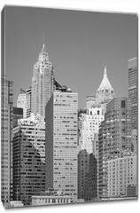 Obraz na płótnie canvas - Black and white picture of New York City modern skyline, USA.