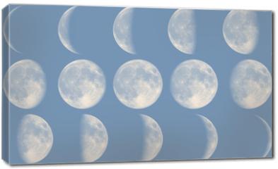 Obraz na płótnie canvas - Mond Phasen - Tag